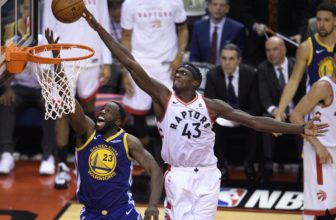 Siakam Dunk During Game 1 of the NBA Finals